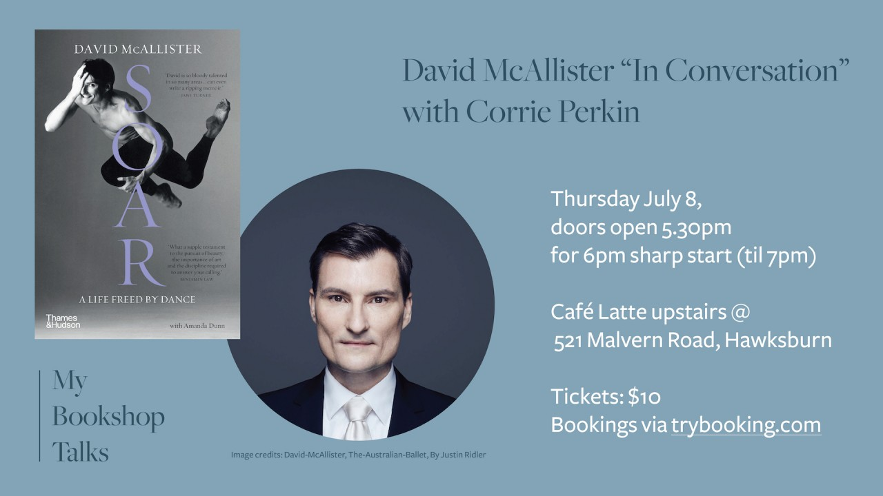 Event at My Bookshop: David McAllister In Conversation with Corrie Perkin